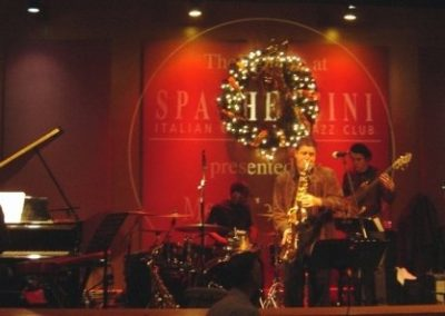 Playing with New West 5 at Spaghettini's Seal Beach CA.