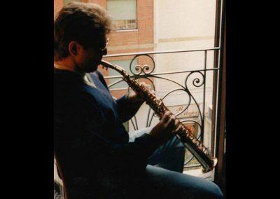 Tony warming up in Milan, Italy